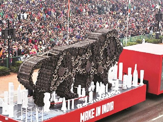 Make in India tableau at Republic day parade