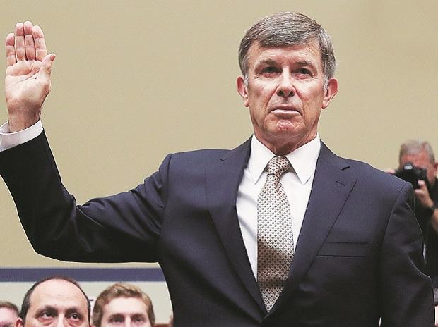 Acting Director of National Intelligence Joseph Maguire is sworn in to testify before a House Intelligence Committee hearing on the handling of the whistleblower complaint, at Capitol Hill in WashingtonPhoto: Reuters