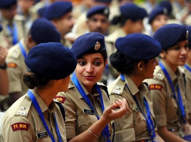 New Delhi: Indian Police Service (IPS) 2018 batch probationers attend a meeting with Union Home Minister Amit Shah (unseen) at Maharashtra Sadan, in New Delhi, Monday, Oct. 7, 2019. (PTI Photo/Shahbaz Khan)(
