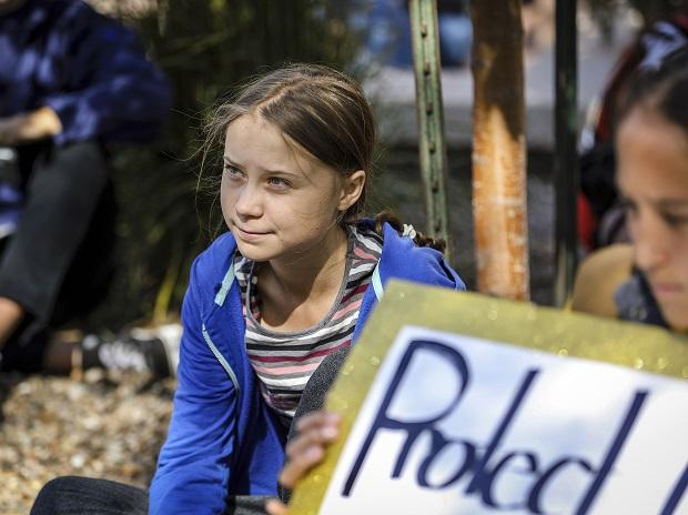 Rapid City: Greta Thunberg looks on during the Climate Change Rally and March Monday, Oct. 7, 2019 in Rapid City, S.D. AP/PTI(