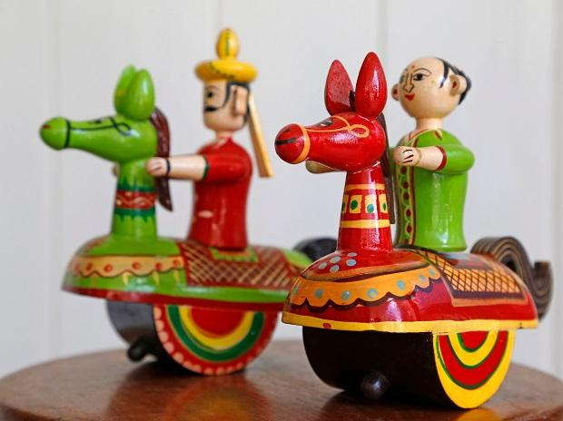 Channapatna toys - traditionally known as keel kudure