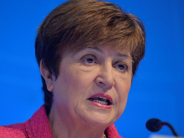 International Monetary Fund Managing Director Kristalina Georgieva addresses the fall meetings of the International Monetary Fund and World Bank in Washington