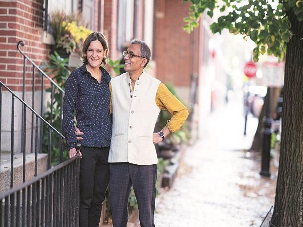 Nobel Laureates in economics Esther Duflo and Abhijit Banerjee. They are the fifth married couple to have won this prizePHOTO: The Nobel Prize Twitter account