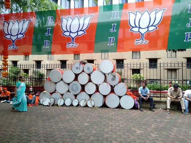 BJP gears up to celebrate likely victory in Maharashtra Assembly elections (Photo- Kamlesh Pednekar)