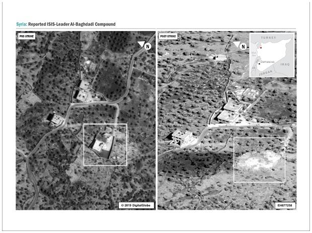 Before and after pictures of the isolated compound