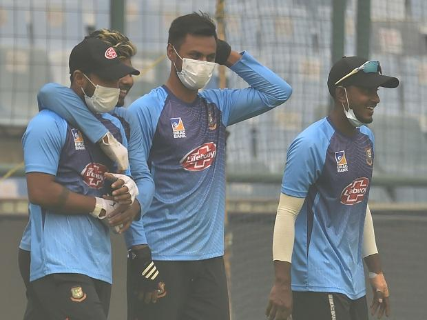 India vs Bangladesh 1st T20 live, Bangladesh players during practice at Arun Jaitley stadium