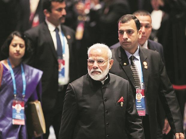 Prime Minister Narendra Modi on the sidelines of the Asean summit. Photo: Reuters