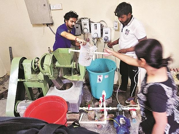 A pilot project by Kriya Labs at IIT Delhi to convert agriculture waste into products
