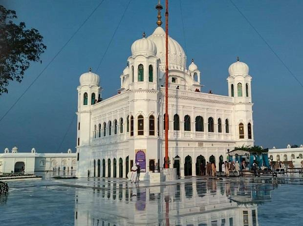 A view of Gurdwara Kartarpur Sahib in Pakistan, Friday, Nov. 8, 2019