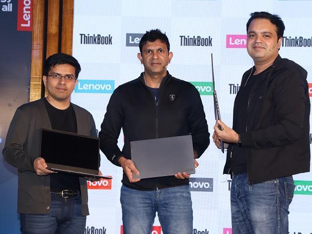 (L-R) Amit Doshi, CMO, Rahul Agarwal, CEO and MD and Ashish Sikka, Director SMB, Lenovo India