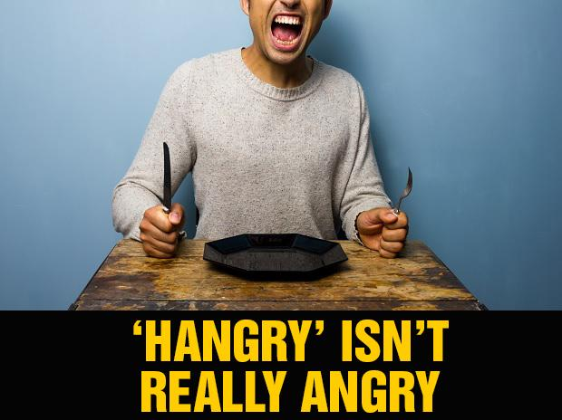 Don't get mad, but 'hangry' isn't really angry