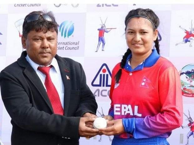 Anjali Chand, Nepal cricketer. Photo: @Nepal_Cricket