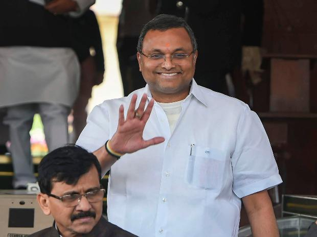 Congress MP Karti Chidambaram in Parliament on December 4, 2019. Karti welcomed his father P Chidambaram's release from jail