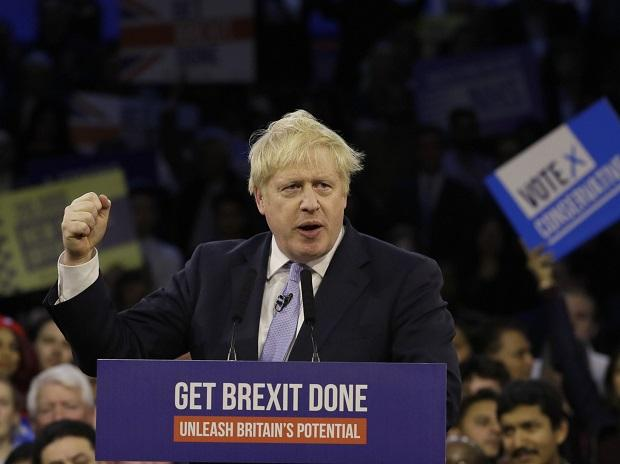 London: Britain's Prime Minister Boris Johnson speaks during his ruling Conservative Party's final election campaign rally at the Copper Box Arena in London, Wednesday, Dec. 11, 2019 | Britain goes to the polls on Dec. 12 | AP/PTI