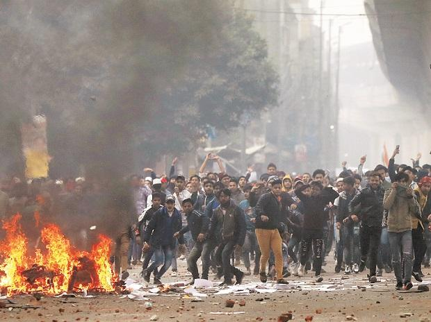 Demonstrators protest against the new citizenship law in the Seelampur area of New Delhi. Photo: Reuters