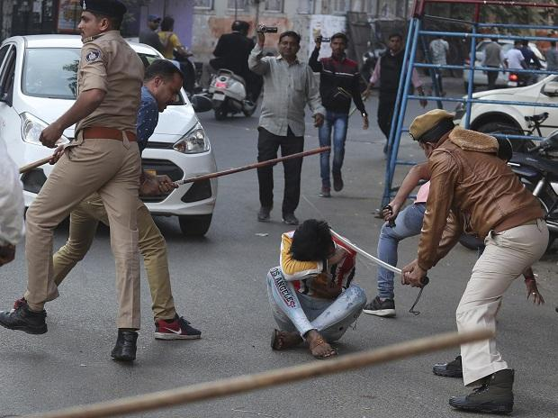 Police in Lucknow charge protesters during a rally against the Citizenship Act and the proposed National Register of Citizens on December 19, 2019 | Photo: PTI
