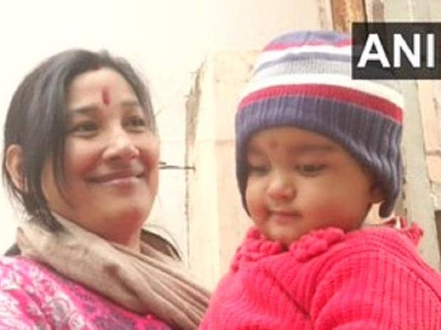 Ekta Shekhar, who was arrested along with her husband during protests against Citizenship Amendment Act in Varanasi on 19th December | Credits: @ANI