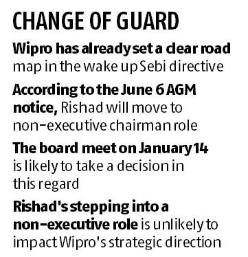 Rishad Premji to be non-executive chairman at Wipro, nod likely on Jan 14