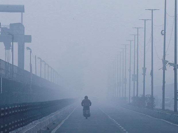 Winter, smog, fog, student, tourist, pollution, air, climate