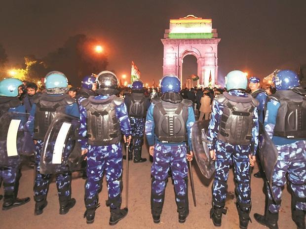 India Gate, JNU violence