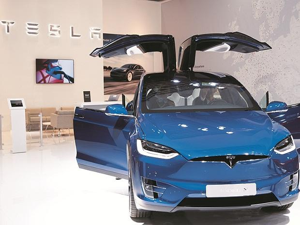 A Tesla Model X electric car at Brussels Motor Show. Photo: Reuters