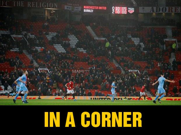 Many United fans walked out before full time in the team's defeat to Burnley earlier this week