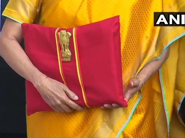 Finance Minister Nirmala Sitharaman with the 'Bahi Khata' of 2020. Photo: ANI
