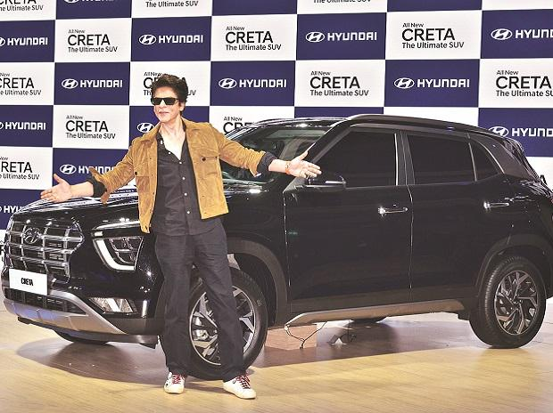 Shahrukh Khan at the unveiling of the new Creta by Hyundai Motors | Photo: Sanjay K Sharma