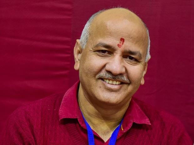 Delhi Deputy Chief Minister Manish Sisodia seen at Akshardham centre, during counting of votes  for the Delhi Assembly poll results