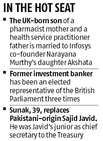 Narayana Murthy's son-in-law Rishi Sunak is new UK chancellor of exchequer