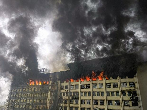 A massive fire broke out at GST Bhavan in Mazgaon area of Mumbai