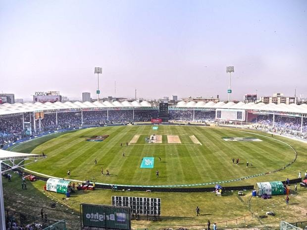 Cricket ground in Pakistan