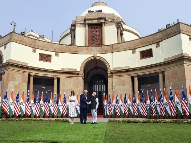 Donald Trump, PM Modi at the Hyderabad House
