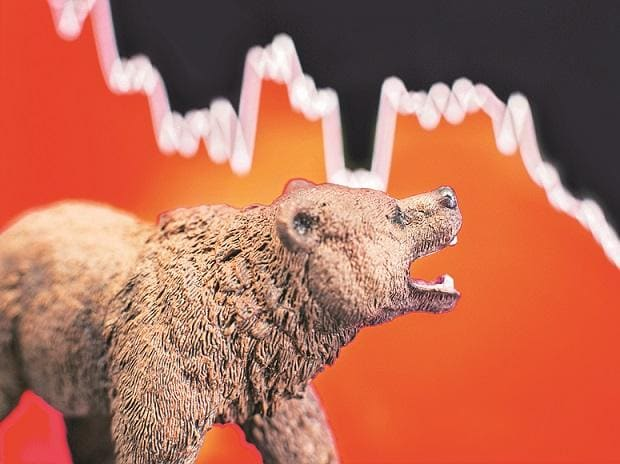 MARKET LIVE: Sensex drops 850 pts; Nifty below 14,300 ahead of F&O expiry