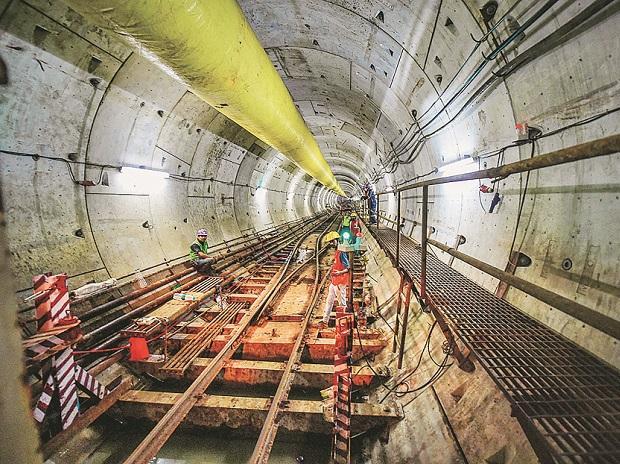 Mumbai metro, under river tunnel