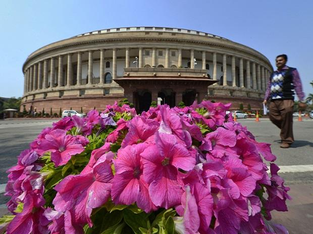 New Delhi: Flowers bloom at Parliament during the ongoing Budget Session, in New Delhi, Wednesday, March 11, 2020. (PTI Photo/Kamal Kishore)