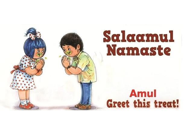 Amul has many ads on the virus