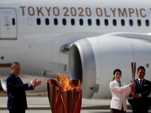 Olympic flame in Japan