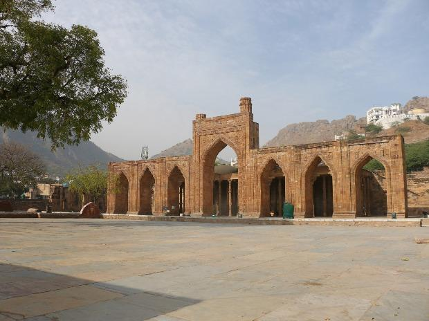 A view of deserted Adhai Din Ka Jhonpra mosque in the wake of coronavirus pandemic, in Ajmer