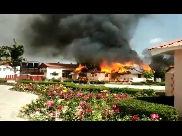 fire at Ramdev's natural health complex