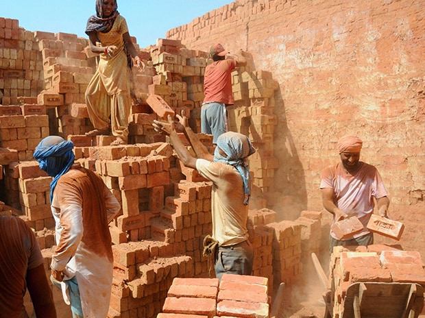 Labourers, workers, construction