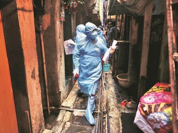 coronavirus, mumbai, slums, doctors, health workers