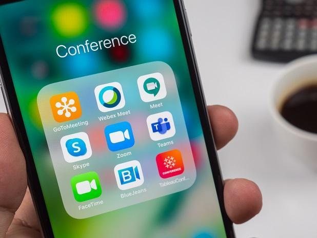 Video meeting apps, google meet, skype