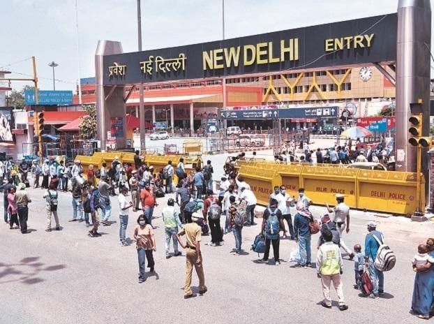 New Delhi railway station, workers, passengers, trains, railways, coronavirus, lockdown, migrants, traffic