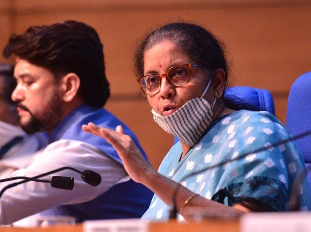 Finance Minister Nirmala Sitharaman announcing details of  special package at a press conference in New Delhi( Photo- Sanjay K Sharna)