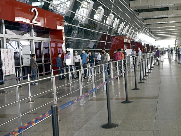 Indira Gandhi International Airport Authorities preparing airport during the fourth phase of nationwide lockdown to curb the spread of coronavirus, in New Delhi. Photo: Dalip Kumar.
