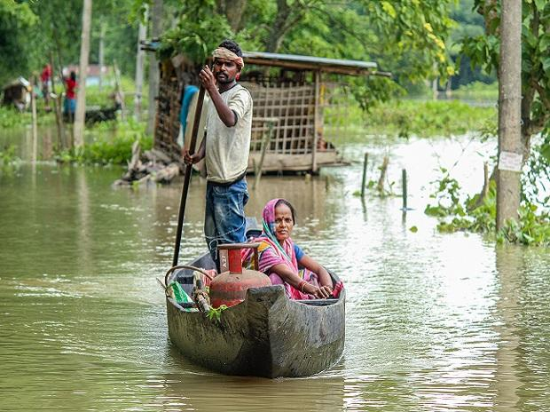 assam, floods, women
