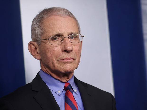 Anthony Fauci, director of the National Institute for Allergy and Infectious Diseases, listens as President Donald Trump answers questions during the coronavirus task force daily briefing at the White House in Washington, DC. Photo: Reuters
