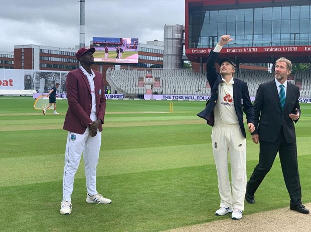 West Indies wins the toss and elects to bat first at Old Trafford. Photo: @Windiescricket