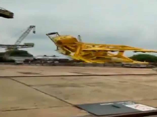 11 dead as crane crashes at Hindustan Shipyard in Vizag, rescue ops on
